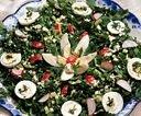Салат из зелёного лука и стеблей чеснока